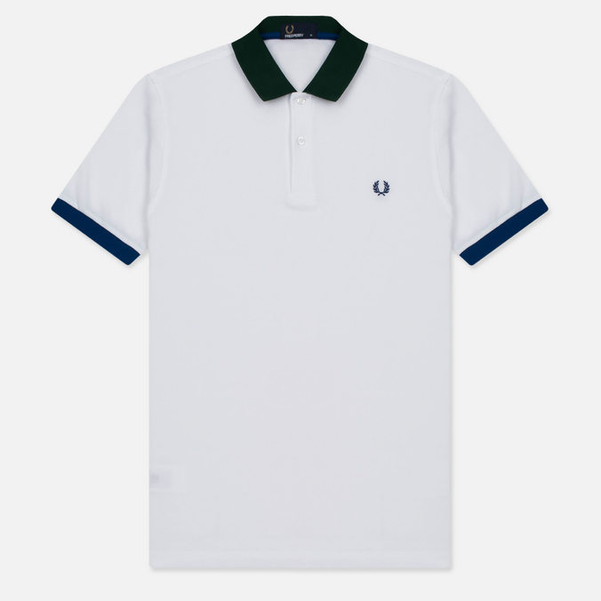Мужское поло Fred Perry Colour Block Pique White