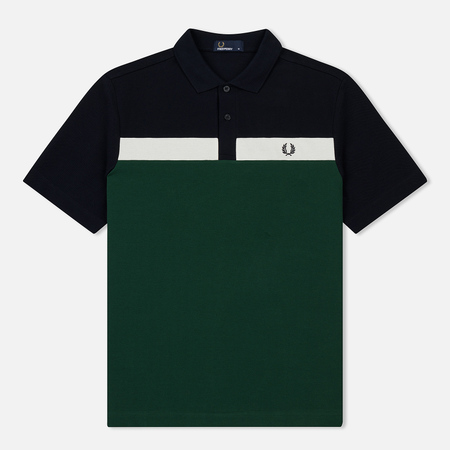 Мужское поло Fred Perry Contrast Panel Pique Ivy