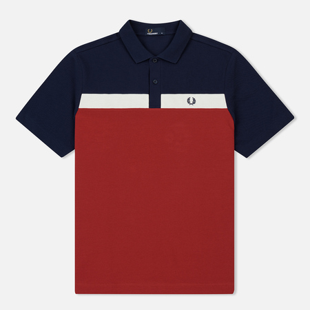 Мужское поло Fred Perry Contrast Panel Pique Rich Red