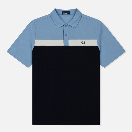 Мужское поло Fred Perry Contrast Panel Pique Sky