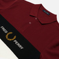 Мужское поло Fred Perry Embroidered Panel Tawny Port фото - 1