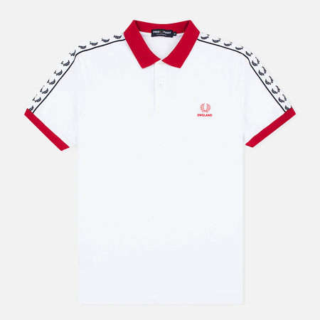 Fred Perry Men's Polo England Country White