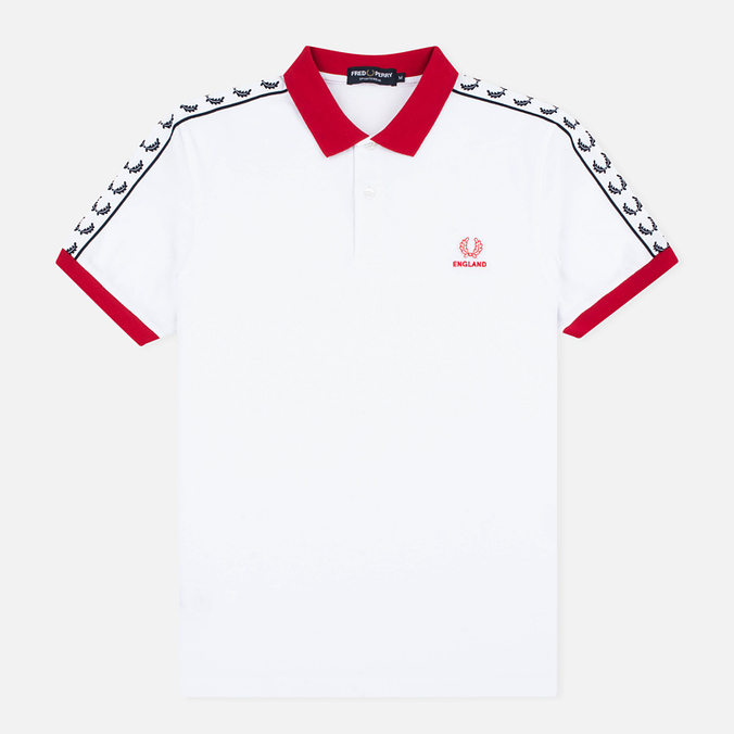 Мужское поло Fred Perry England Country White