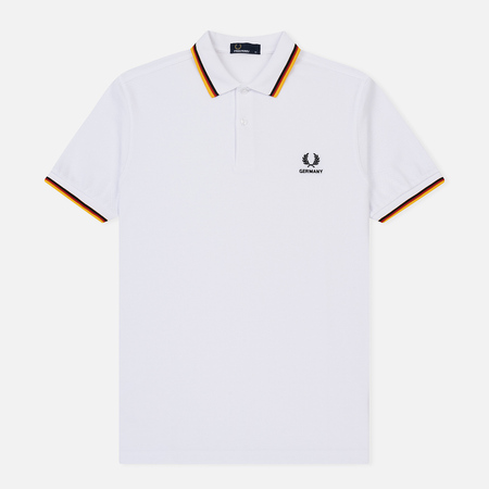Мужское поло Fred Perry Germany Country 2018 White