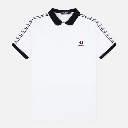 Fred Perry Men's Polo Germany Country White