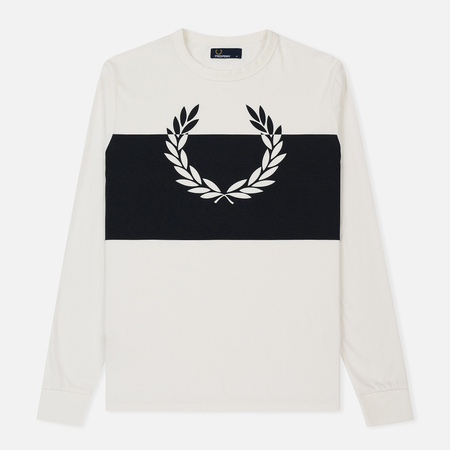 Мужской лонгслив Fred Perry Laurel Colour Block Pique Polo Snow White