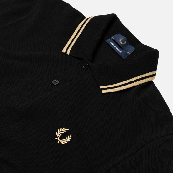 Мужское поло Fred Perry M12 Black/Champagne
