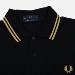 Мужское поло Fred Perry M12 Black/Champagne фото- 1