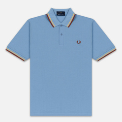 Мужское поло Fred Perry M12 Sky/Sunset Gold/Paprika