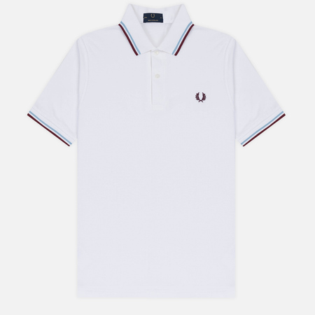 Мужское поло Fred Perry M12 White/Ice/Maroon