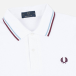 Мужское поло Fred Perry M12 Twin Tipped White/Ice/Maroon фото- 1