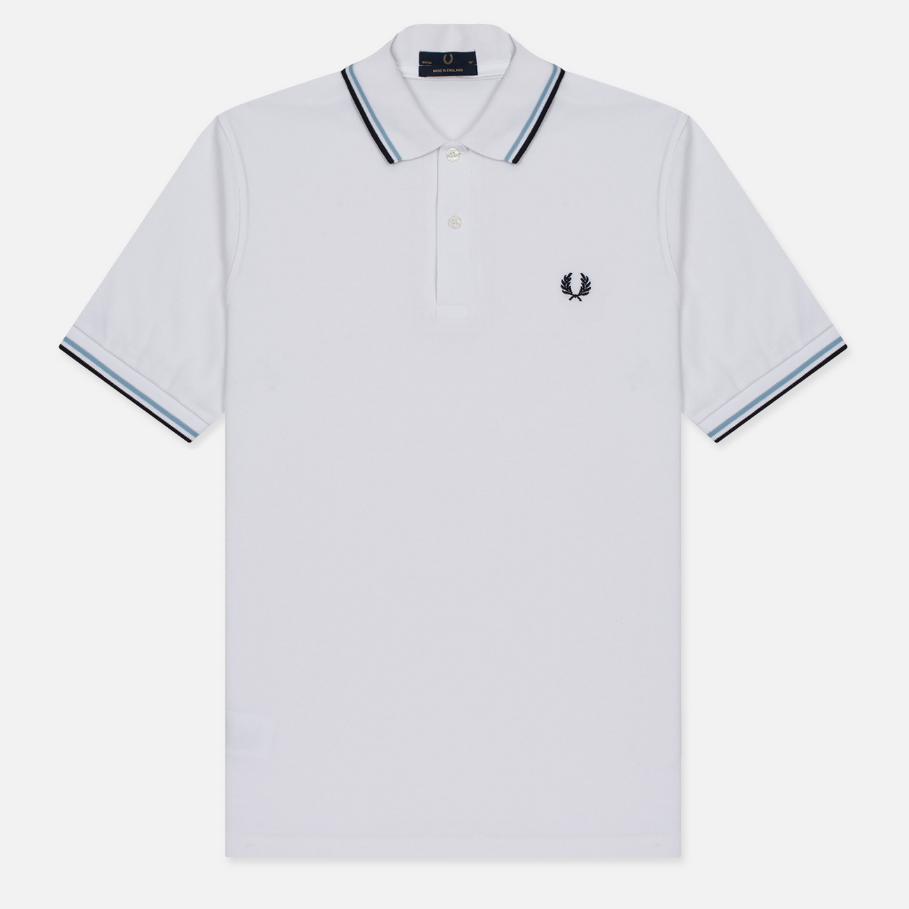 Мужское поло Fred Perry M12 White/Ice/Navy