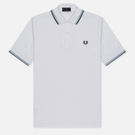 Мужское поло Fred Perry M12 White/Ice/Navy фото- 0