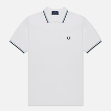 Мужское поло Fred Perry M12 White/Ice/Navy фото- 1