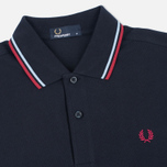 Мужское поло Fred Perry M1200 Navy/Glacier/Deep Red фото- 1