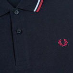 Fred Perry M1200 Men's Polo Navy/Glacier/Deep Red photo- 2