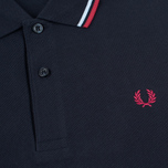 Мужское поло Fred Perry M1200 Navy/Glacier/Deep Red фото- 2