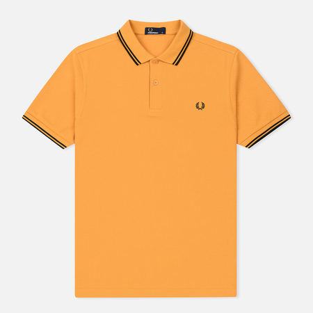Мужское поло Fred Perry M3600 Twin Tipped Amber/Black/Black