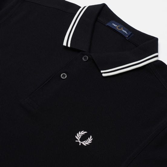 Мужское поло Fred Perry M3600 Twin Tipped Black/Porcelain/Porcelain