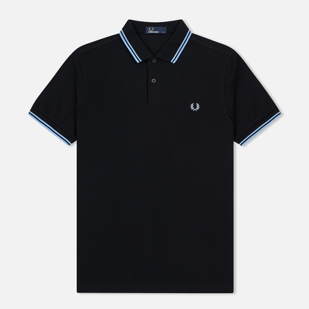 Мужское поло Fred Perry M3600 Twin Tipped Black/Sky/Sky