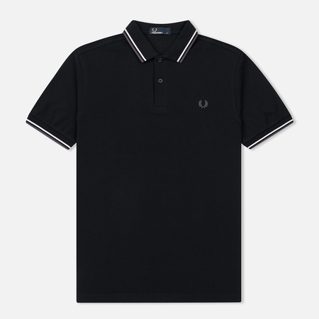 Мужское поло Fred Perry M3600 Twin Tipped Black/White/Iced Slate