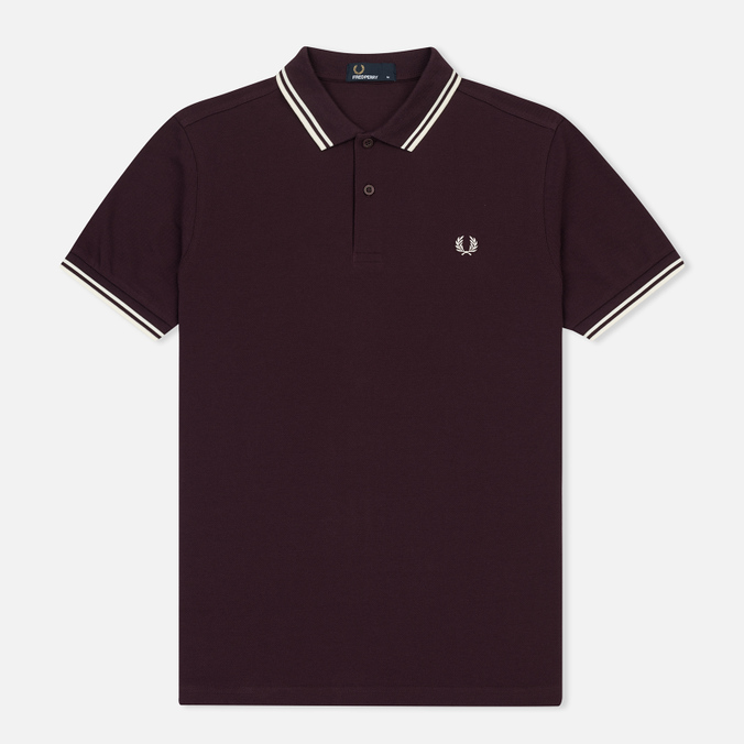 Мужское поло Fred Perry M3600 Twin Tipped Bramble/Snow White/Ecru