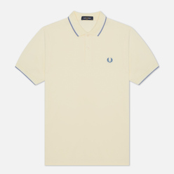 Мужское поло Fred Perry M3600 Twin Tipped Butter Icing/Snow White/Riviera