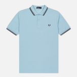 Мужское поло Fred Perry M3600 Twin Tipped Clacier/Shiraz/Navy фото- 0
