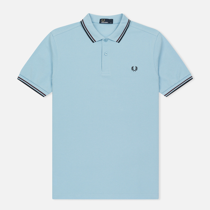 Мужское поло Fred Perry M3600 Twin Tipped Clacier/Shiraz/Navy