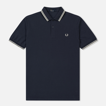Мужское поло Fred Perry M3600 Twin Tipped Dark Airforce/Ecru/Ecru