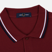 Мужское поло Fred Perry M3600 Twin Tipped Dark Red/White/Carbon Blue фото- 1