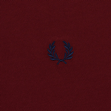Мужское поло Fred Perry M3600 Twin Tipped Dark Red/White/Carbon Blue фото- 2