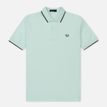 Мужское поло Fred Perry M3600 Twin Tipped Del La Mar/Snow White/Navy фото- 0