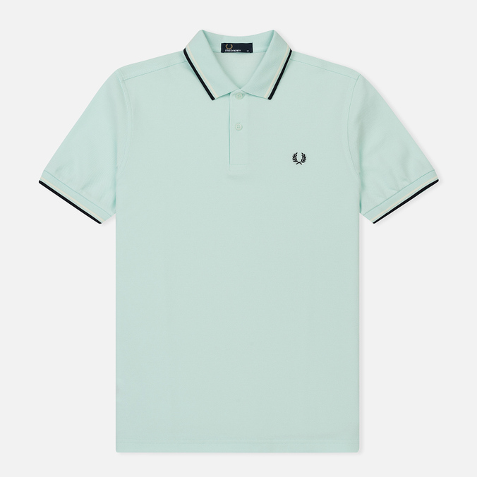 Мужское поло Fred Perry M3600 Twin Tipped Del La Mar/Snow White/Navy