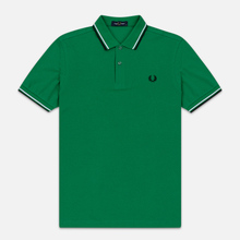 Мужское поло Fred Perry M3600 Twin Tipped Electric Green/White/Black фото- 0