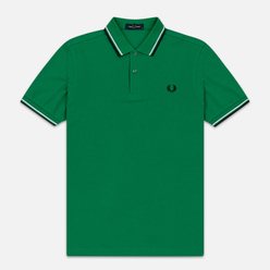 Мужское поло Fred Perry M3600 Twin Tipped Electric Green/White/Black