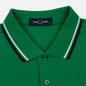 Мужское поло Fred Perry M3600 Twin Tipped Electric Green/White/Black фото - 1