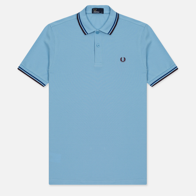 Мужское поло Fred Perry M3600 Twin Tipped Glacier/Cobalt/Bramble