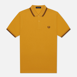 Мужское поло Fred Perry M3600 Twin Tipped Gold/Port/Port