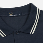 Мужское поло Fred Perry M3600 Twin Tipped Inky Blue/Snow White/Snow White фото- 1