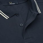 Мужское поло Fred Perry M3600 Twin Tipped Inky Blue/Snow White/Snow White фото- 3