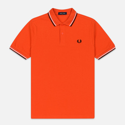 Мужское поло Fred Perry M3600 Twin Tipped International Orange/White/Black