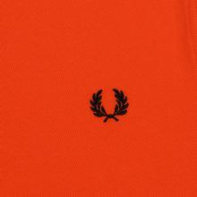 Мужское поло Fred Perry M3600 Twin Tipped International Orange/White/Black фото- 2
