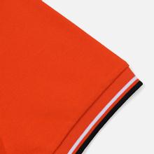 Мужское поло Fred Perry M3600 Twin Tipped International Orange/White/Black фото- 3