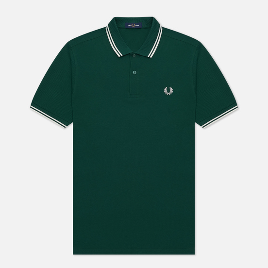 Мужское поло Fred Perry M3600 Twin Tipped Ivy/White