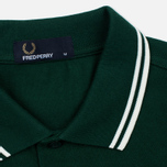 Мужское поло Fred Perry M3600 Twin Tipped Ivy/White фото- 2