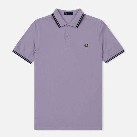 Мужское поло Fred Perry M3600 Twin Tipped Lilac/Black/Black