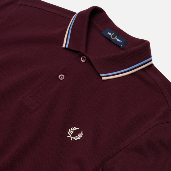 Мужское поло Fred Perry M3600 Twin Tipped Mahogany/Sky/Natural