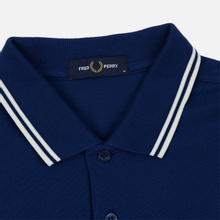 Мужское поло Fred Perry M3600 Twin Tipped Medieval Blue/Snow White/Snow White фото- 1