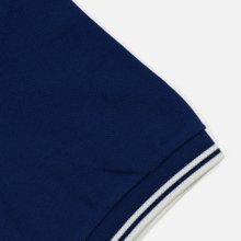 Мужское поло Fred Perry M3600 Twin Tipped Medieval Blue/Snow White/Snow White фото- 3